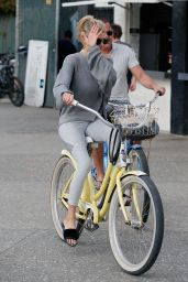 Charlotte McKinney - Riding a Bike in Santa Monica 11/19/ 2016