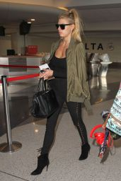 Charlotte McKinney Travel Outfit - LAX Airport 11/22/ 2016