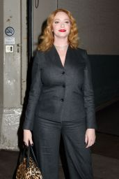 Christina Hendricks - Attending an AOL Build in NYC 11/14/2016