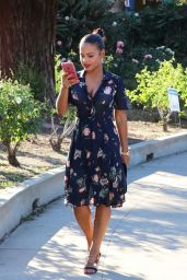 Christina Milian - Voting During the Presidential Election in Los Angeles 11/8/2016