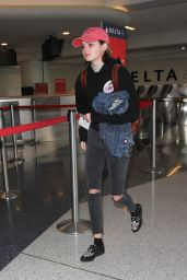 Ciara Bravo at LAX in Los Angeles, November 2016