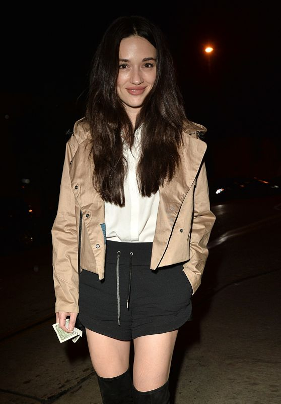 Crystal Reed Arrives For Dinner at Catch Resturant in West Hollywood 11/22/ 2016