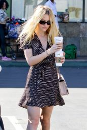 Dakota Fanning - Picks Up Coffee in Studio City 11/8/ 2016