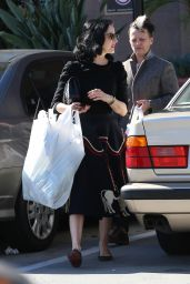 Dita Von Teese - Shops For Art Supplies With a Friend in Glendale, CA 11/29/ 2016