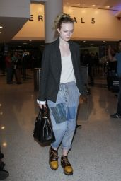 Elle Fanning - Leaving LAX Airport in Los Angeles 11/4/ 2016