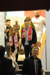 Emilia Clarke at Sevilla FC vs Barcelona in Sevilla, Spain 11/6/ 2016