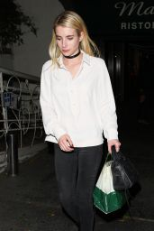 Emma Roberts - Leaving Madeo Restaurant in West Hollywood 11/16/ 2016