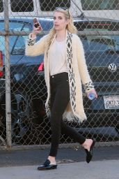 Emma Roberts - Stops by a Studio in West Hollywood, CA 11/18/ 2016