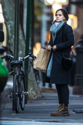 Emma Watson Autumn Style - Shopping in New York City 11/28/ 2016