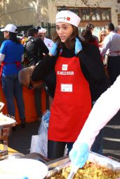 Emmy Rossum and Fiance Sam Esmail - Volunteering at LA Mission