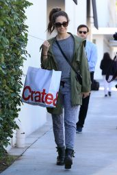 Emmy Rossum Street Style - Shopping in Beverly Hills 11/22/ 2016