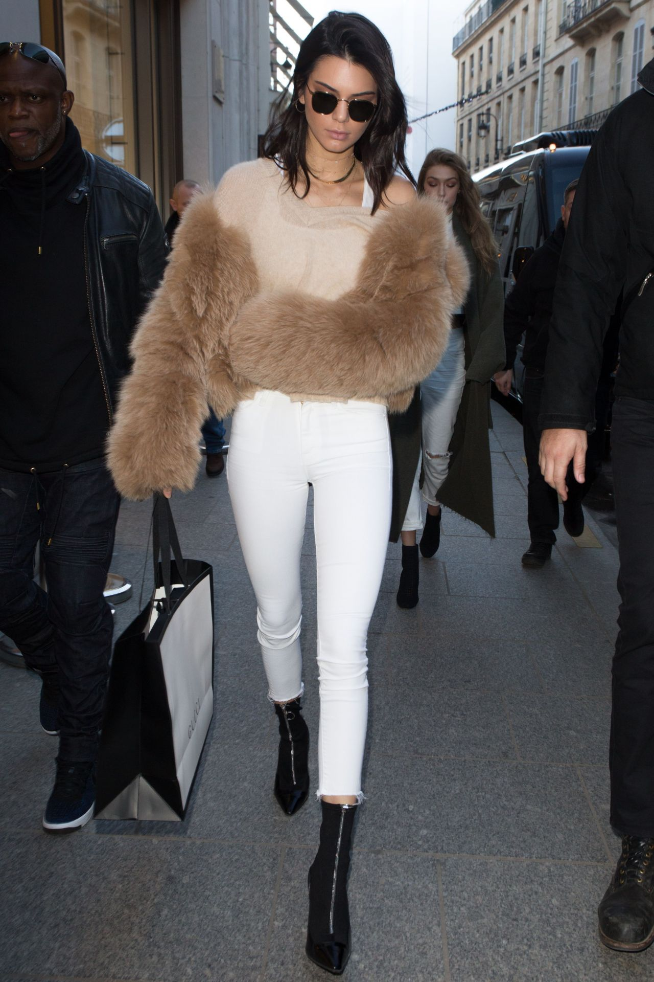 Gigi Hadid And Kendall Jenner Leave Their Hotel In Paris