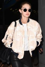 Gigi Hadid Arrives at Paris CDG Airport for the Victoria Secret Fashion Show 11/27/ 2016