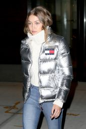 Gigi Hadid Street Style - Leaving Her Apartment in NYC 11/1/ 2016