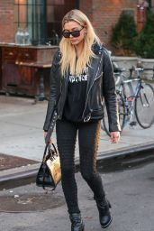 Hailey Baldwin Looking Rocker Chic - New York 11/28/ 2016