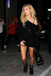 Hailey Baldwin Night Out Style - Catch in West Hollywood 11/3/ 2016