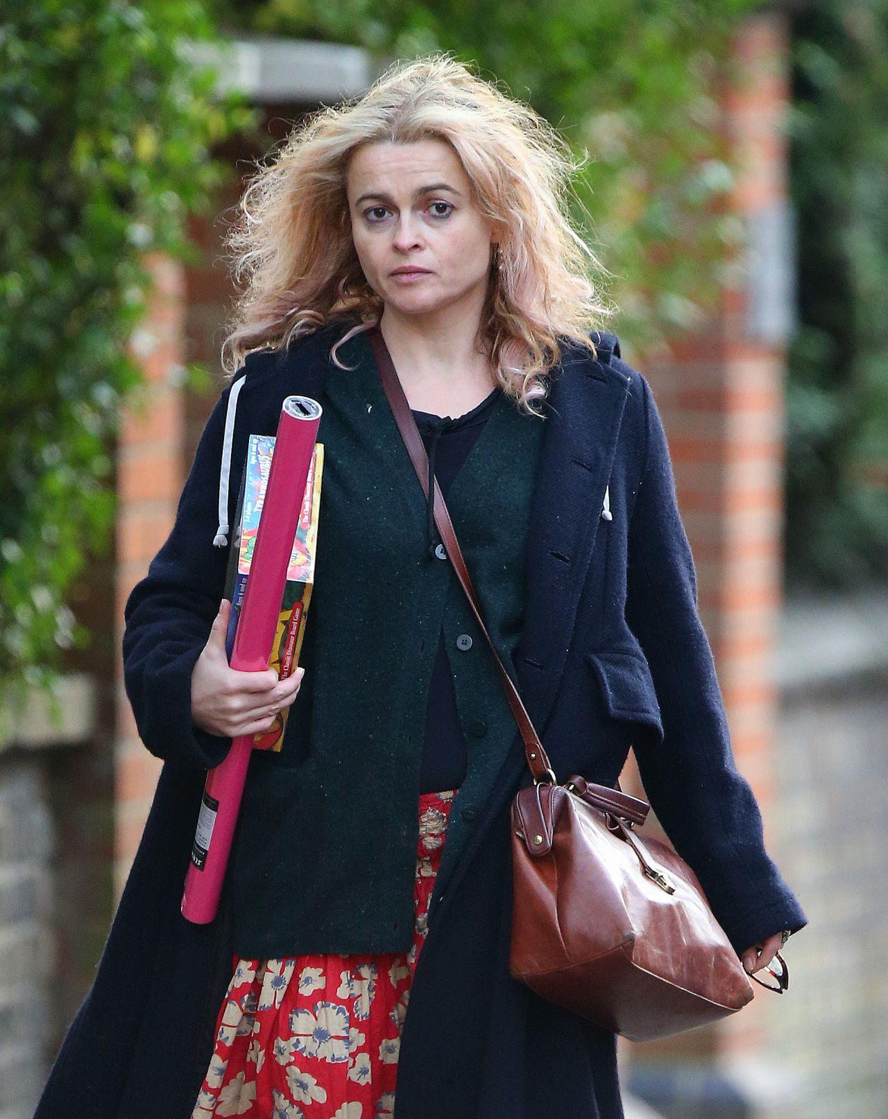 Helena Bonham Carter - Christmas Shopping in London 11/26 ... Helena Bonham Carter