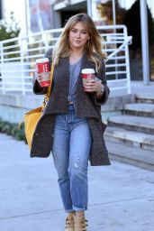Hilary Duff - Gets Two Drinks From Starbucks in Los Angeles, CA 11/23/ 2016