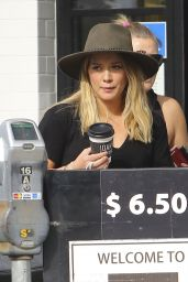 Hilary Duff in Ripped Jeans - at Joan