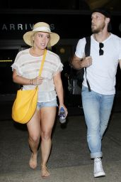 Hilary Duff Leggy in Shorts - LAX 11/13/ 2016