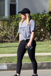 Hilary Duff - Picks up a Coffees on Her Way to The Gym in Beverly Hills, CA 11/8/2016
