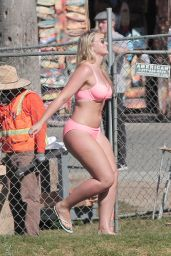 Iskra Lawrence - Bikini Photoshoot at Venice Beach 11/2/ 2016