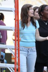 Jessica Biel on the Set of