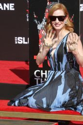 Jessica Chastain at Her Hand And Footprint Ceremony at TCL Chinese Theatre in Hollywood 11/3/ 2016