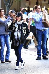 Joan Collins - Shops With Her Husband At The Grove 11/23/ 2016