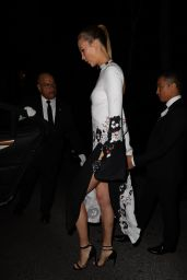 Karlie Kloss - Leaves Home to Event Black And White Gown in NYC 11/7/2016