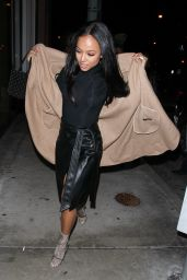 Karrueche Tran Night Out Style - Goes for Dinner in West Hollywood 11/26/ 2016