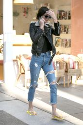Kendall Jenner in Ripped Jeans - Leaving a Nail Salon in Beverly Hills 11/1/ 2016