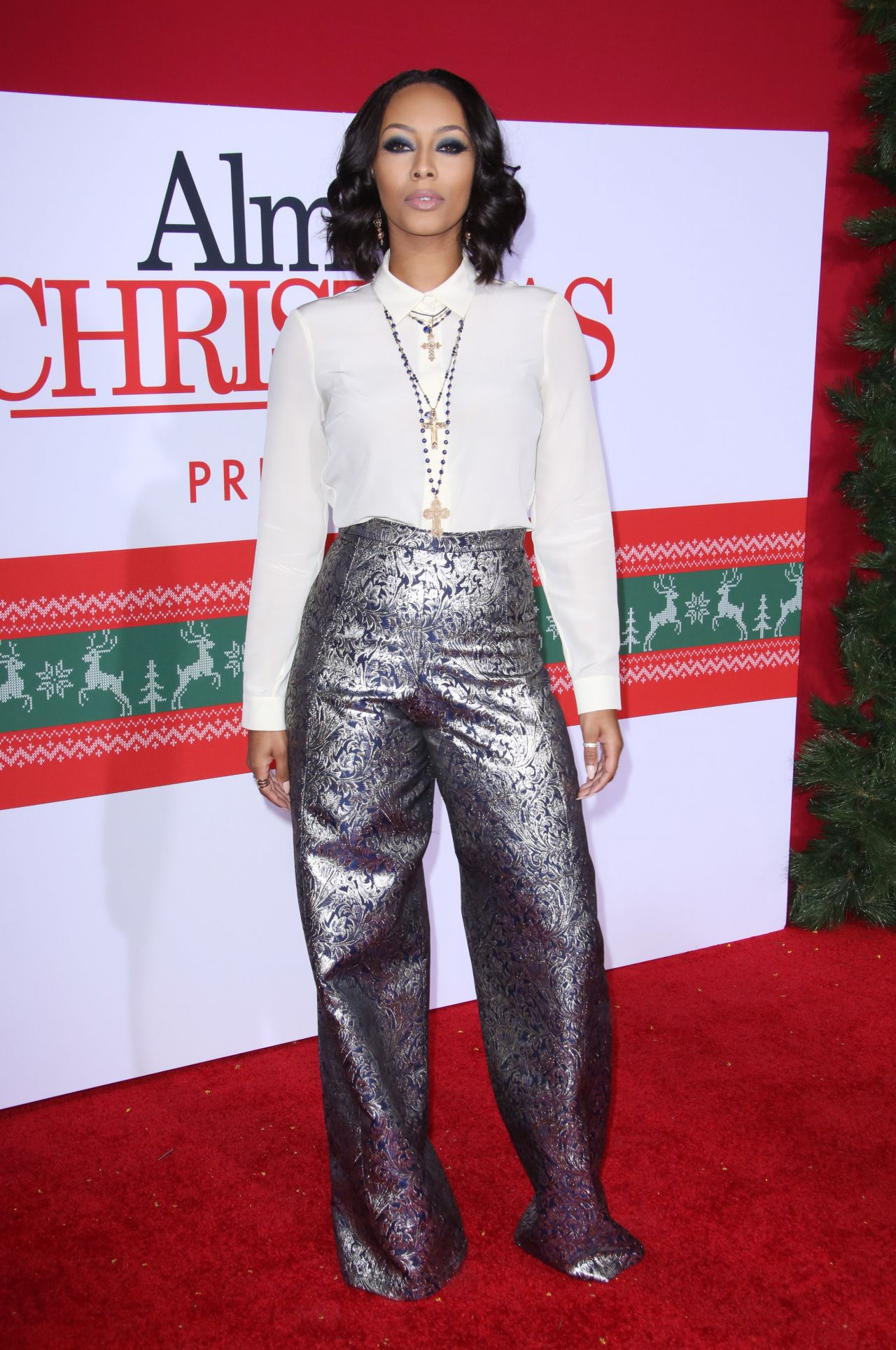 Keri Hilson Almost Christmas Premiere In Westwood 11