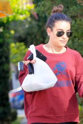 Lea Michele Street Style - Grabbing Some Lunch in Los Angeles 11/23/ 2016