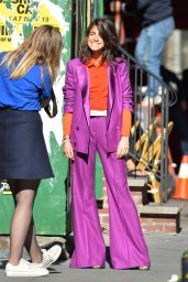 Leandra Medine - Photoshoot in Soho for The Man Repeller Fashion Website in New York 11/8/2016