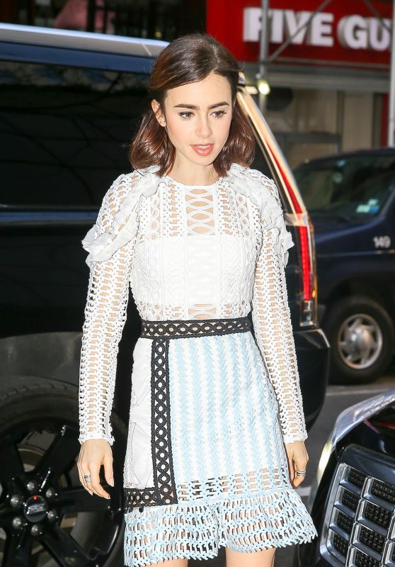 Lily Collins - Arriving at the Today Show in New York City 11/16/ 2016