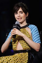 Lily Collins at AOL Build Speaker Series in New York City 11/15/ 2016