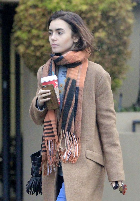 Lily Collins - Getting Coffee in Los Angeles 11/26/ 2016