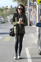 Lily Collins in Spandex - Leaves The Gym With a Cold Drink, West Hollywood, CA 11/28/ 2016