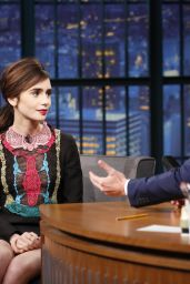 Lily Collins - Late Night with Seth Meyers in New York City 11/15/ 2016