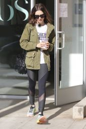 Lily Collins - Leaving the Gym in West Hollywood 11/19/ 2016