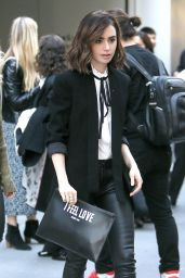Lily Collins - Out in New York City 11/2/ 2016