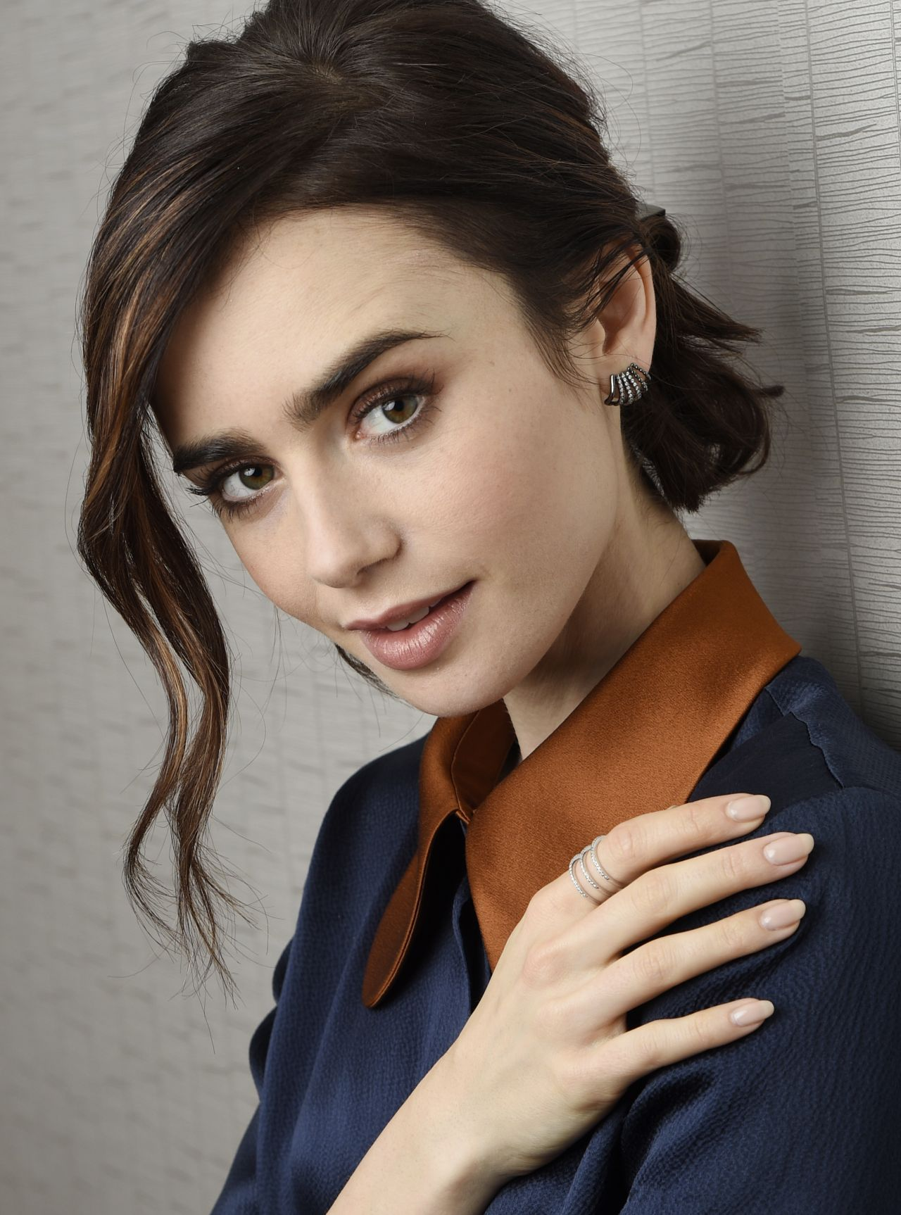 Lily Collins Portraits Associated Press November