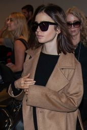 Lily Collins Travel Outfit - LAX Airport in LA 10/31/ 2016