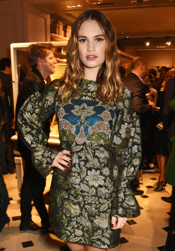 Lily James - Burberry Celebrates
