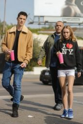 Lily-Rose Depp and Boyfriend Ash Stymest - Grab Lunch at Pinches Tacos in LA 11/16/2016