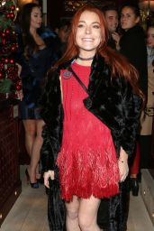 Lindsay Lohan - Leaving Lou Lous Members Club in London, November 2016