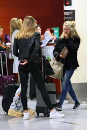 Lottie Moss at Barcelona Airport 11/13/ 2016