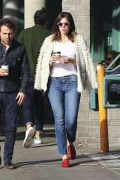 Mandy Moore in Jeans - Picking up a Coffee in Los Angeles 11/23/ 2016