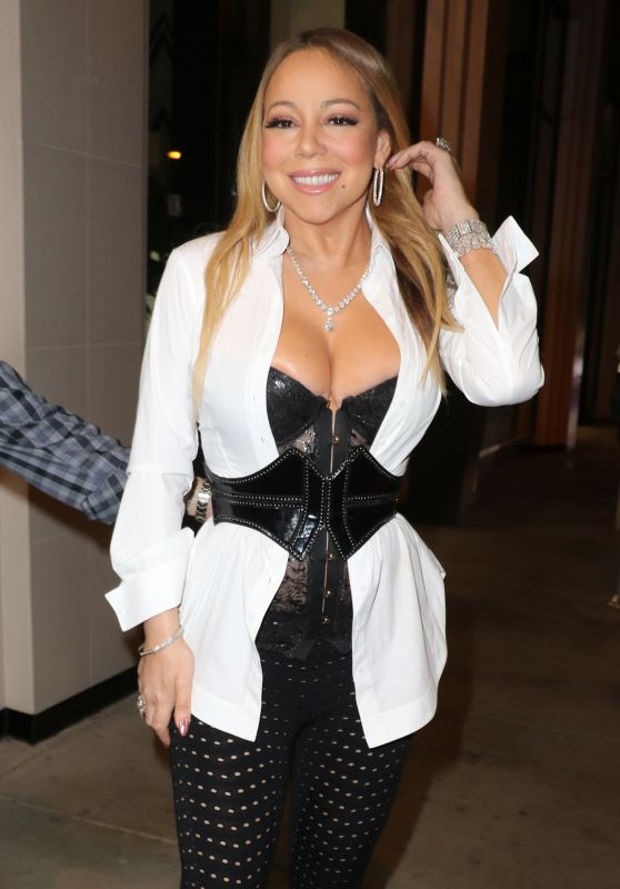 Mariah Carey - Major Cleavage & Areola Peekage - Out in Hollywood 11/5/2016